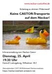Keine CASTOR-Transporte auf dem Neckar! | Ludwigsburg