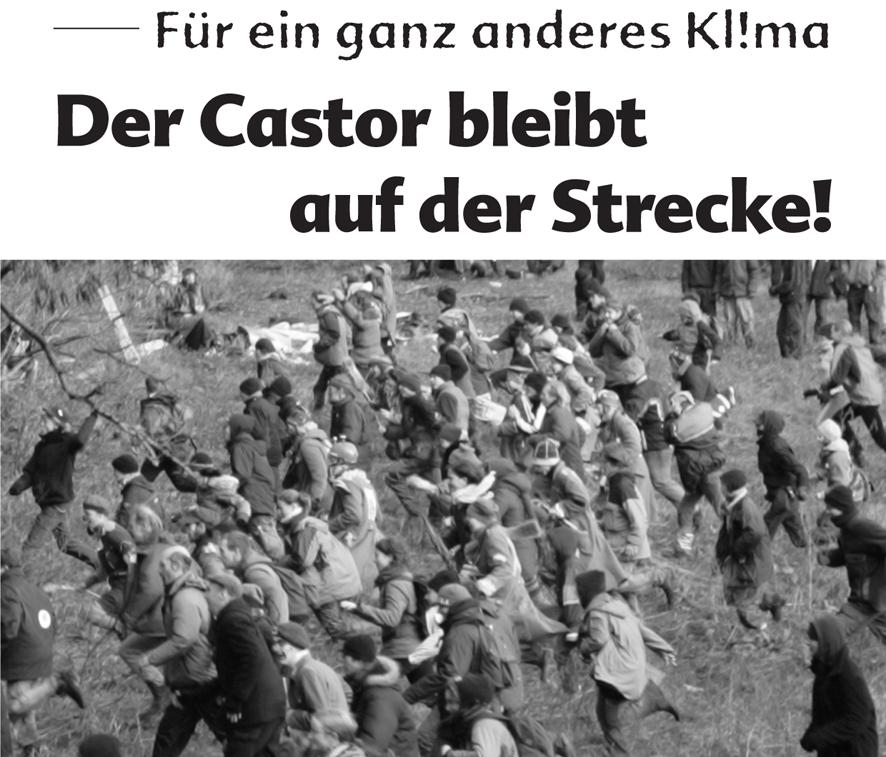 Weiterlesen: Der Castor bleibt auf der Strecke!