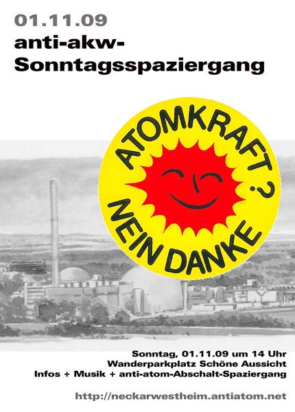Weiterlesen: Anti-AKW-Sonntagsspaziergang am 1.November